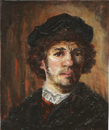 Copy of Rembrandts self portrait