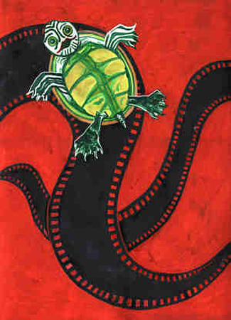 Poster turtle red full