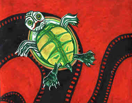 Poster turtle red top