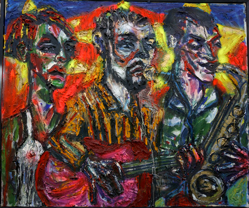 1994_LiveAtTheCameron_PerformancePainting_SML_49x67_Oil_Canvas