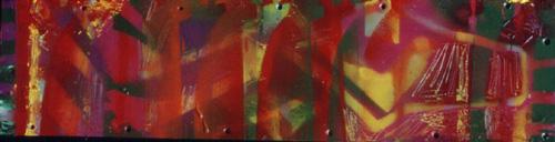 1999_MetalGiraffes_8x31_SML_SprayPaint on Metal
