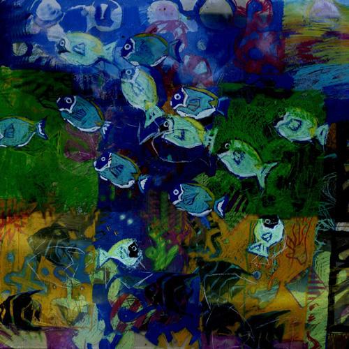 2006_Angel Fish_Oil_WatercolourCrayons_Plastic_SML_32x32